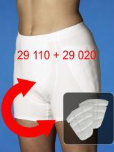 Set aus Inkontinenz-Hüftschutzhose (Art. 29110) und Hüft-Protektoren (Art. 29020)